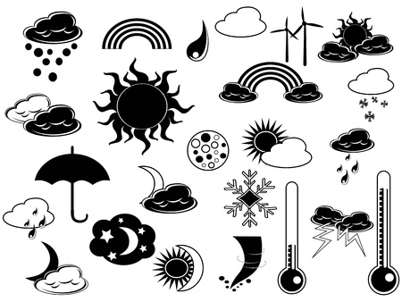 black weather icon for web design Vector