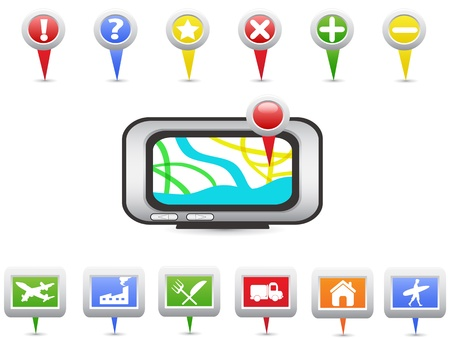 GPS and Navigation icons for design Vector