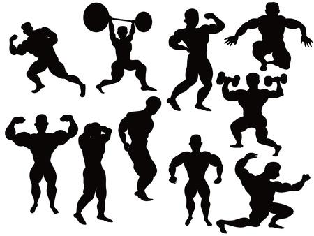trizeps: die Silhouette der Bodybuilder-pose