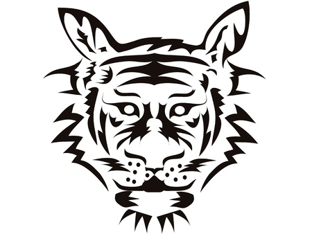 the symbol of tiger head Stock Vector - 9569261
