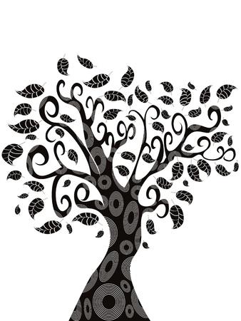 디자인 된 나무의 실루엣