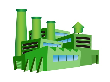 the green factory for eco design Illustration