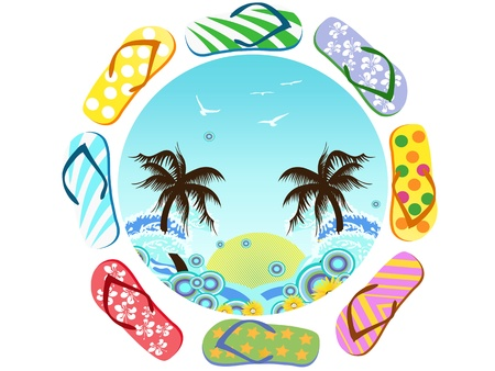 flip flop: the symbol of summer coming