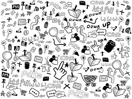 http: nahtlose Doodle Hintergrund gebildet mit Web-Muster
