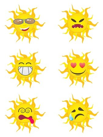 Sun Cartoon Characters for design Stock Vector - 9660989