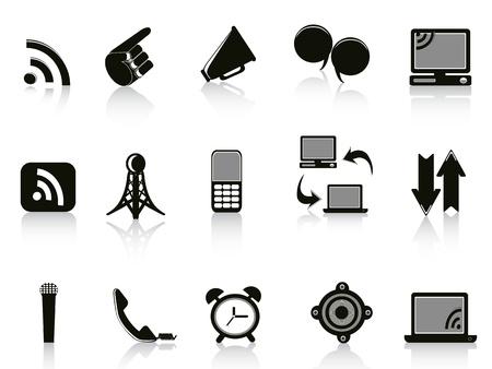 omroep: Geïsoleerde mededeling pictogrammen op witte achtergrond