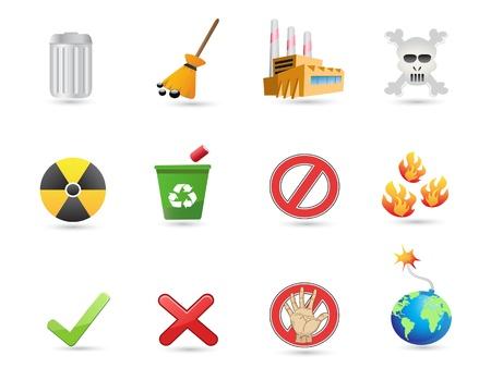 icono contaminacion: icono especial para el dise�o de eco Vectores