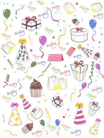 Seamless happy birthday background for design 일러스트