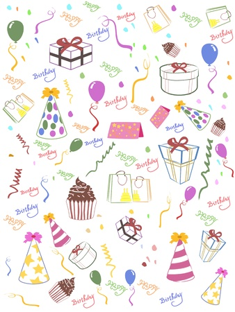 Seamless happy birthday background for design Stock Vector - 9794558