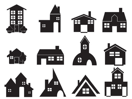 home group: set of house icons for web design