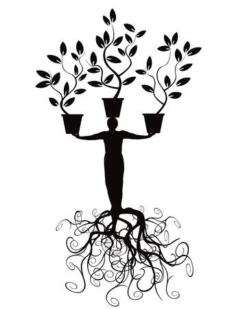 뿌리를 가진 나무 남자