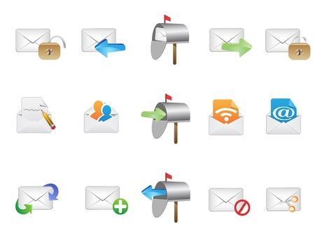 several email icons for web design Stock Vector - 9883028
