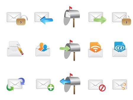 buzon: varios iconos de correo electr�nico de dise�o web