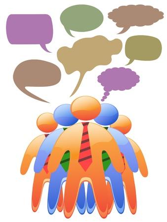 alianza: la gente habla en s�mbolos sociales bocadillos de colores