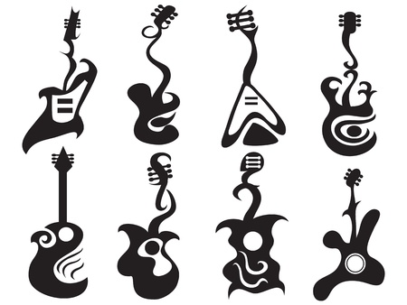guitar illustration: some abstract designed guitar pattern
