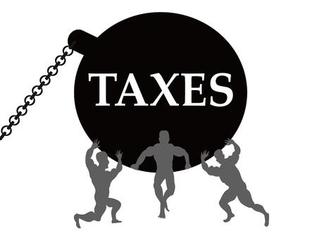 la comcept de carga de impuestos Ilustración de vector