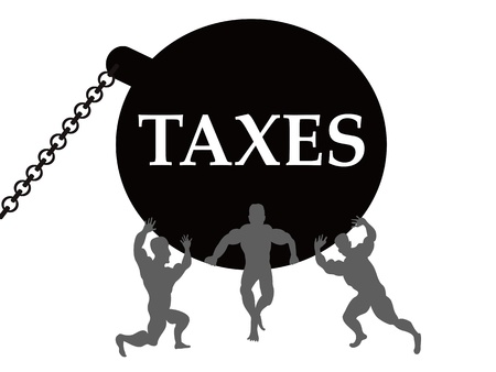 burden: the comcept of taxes burden Illustration