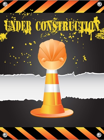 the  background of under construction Stock Vector - 9920751