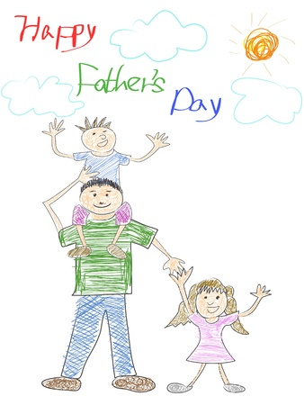 single parent: doodle happy father