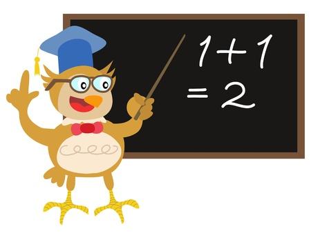 maestra ense�ando: Profesor b�ho Linda ense�anza de pizarra Vectores