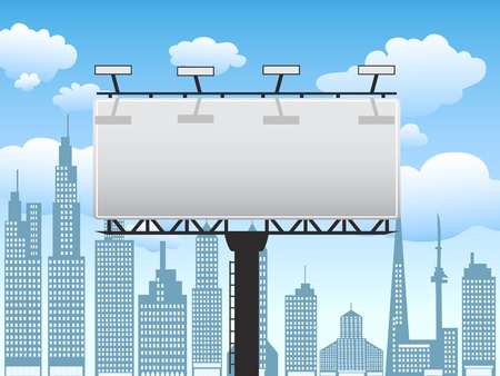 billboard standing in the city with clear blue sky Stock Vector - 10294286