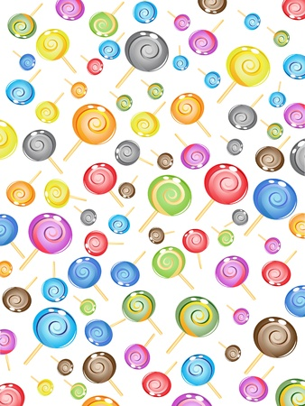 the background of seamless candy pattern Stock Vector - 10342358
