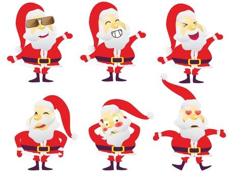 Santa claus playing various characters Stock Vector - 10342352