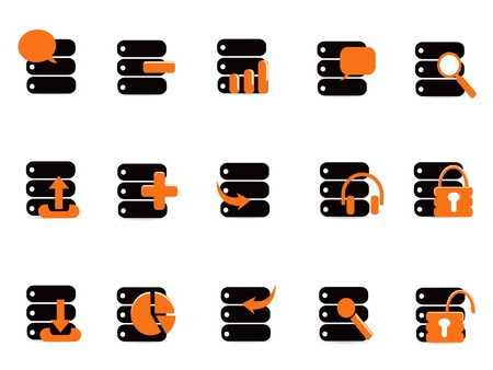 black database icons for web design Stock Vector - 10419635