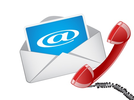 contact info: the symbol of email and phone in vector form