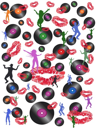 40s: seamless disco music and dance background