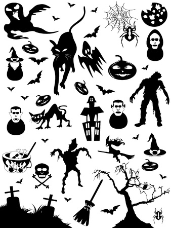 Seamless background of halloween pattern  Vector