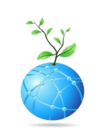 el concepto de planta del globo de cristal