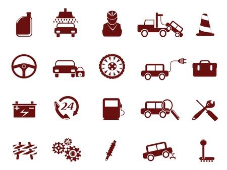 alignment: Auto icono de servicio de reparaci�n de coches para el dise�o Vectores