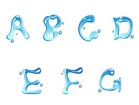 water drop of type font for design Stock Vector - 10536887