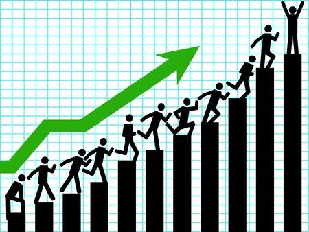 climbing stairs: sullo sfondo di up aziendale per la progettazione