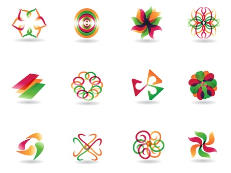 abstract colorful icons for design Vector