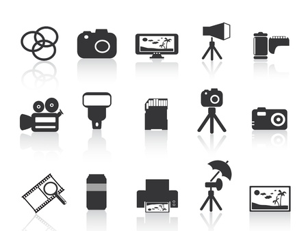 shots: photography element icon for web design