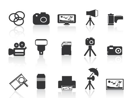 photo printer: photography element icon for web design