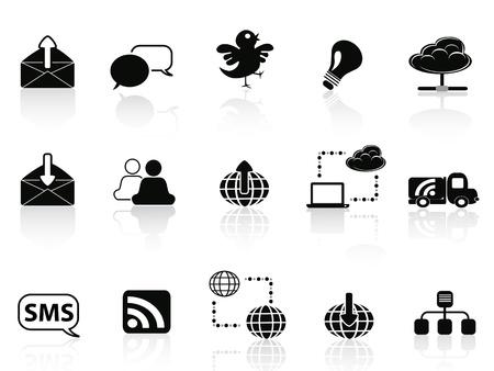 rss sign: Internet social communications icon set
