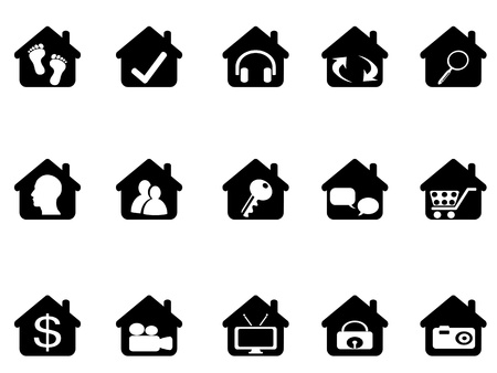 head home: house icon set for design
