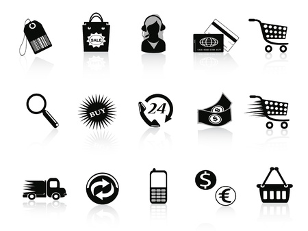 Commerce and retail icons set for design Vector