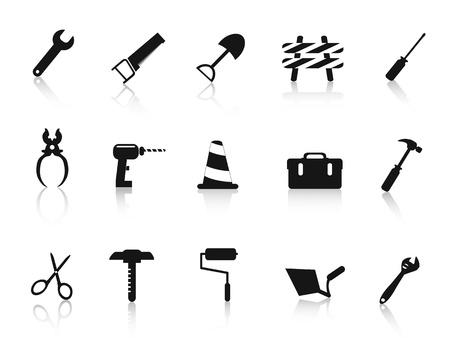 tool icon: serie di nero icona dello strumento a mano Costruzione