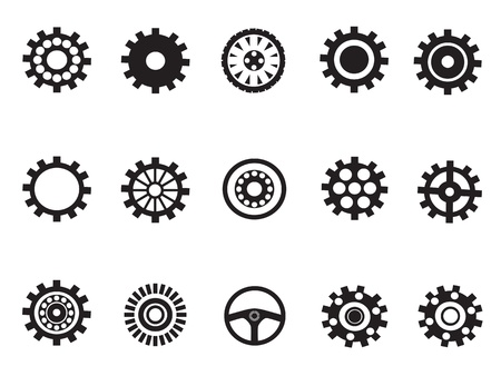 small group: silhouetted vector of Machine Gear for desigh