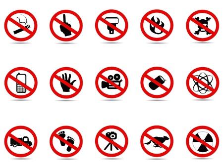 förbjuda: några förbjudna tecken set för design