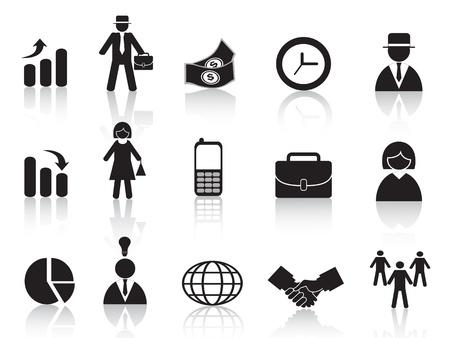 administrador de empresas: conjunto de icono de la empresa para el diseño Vectores