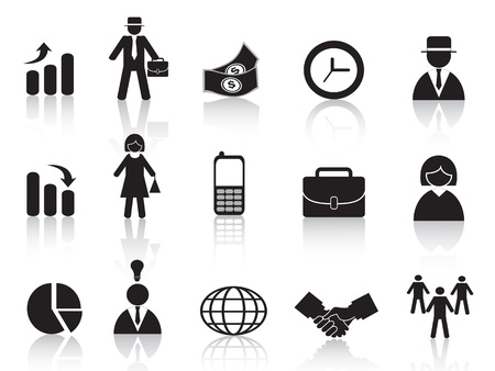managing: set of business icon for design Illustration