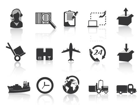 Conjunto de iconos de la logística y el transporte marítimo Foto de archivo - 10845956