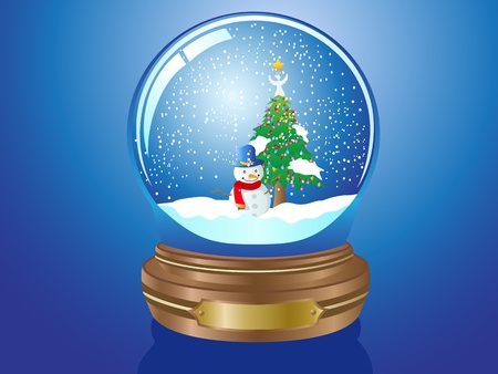 Christmas Snow globe for Christmas coming Stock Vector - 10932641