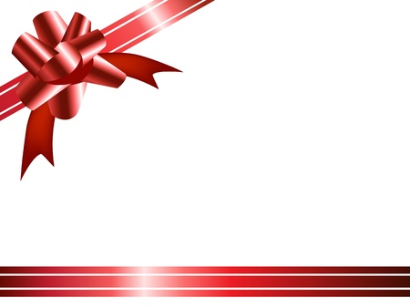 gift with ribbon and bow Vector