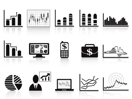 tendencja: niektóre ikony wykresów biznesowych zestaw raportów biznesowych